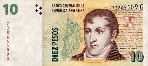 Аргентинские песо10а
