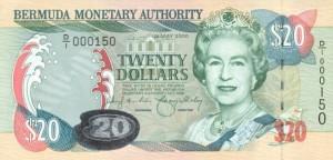 Бермудский доллар 20а