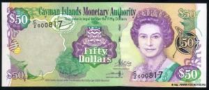 Доллар Каймановых Островов 50а