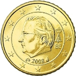 Евроцент Бельгия50а