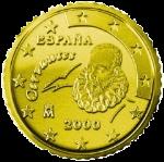 Евроцент Испания50а