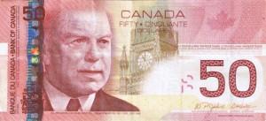 Канадский доллар50а