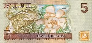 Купюра в 5 фиджийских долларов. Обратная сторона