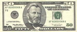 Купюра в 50 долларов США, лицевая сторона