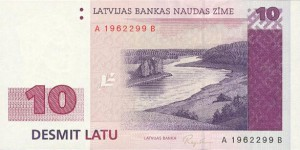 Латвийский лат10а