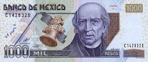 Мексиканское песо1000а