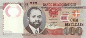 Мозамбикский метикал 100а