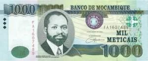 Мозамбикский метикал 1000а
