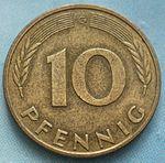 Немецкая марка пфенинг10а