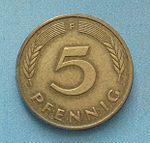 Немецкая марка пфенинг5а