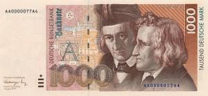 Немецкая марка1000а