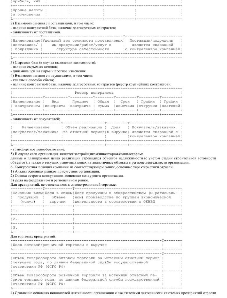 Образец анкеты федерального государственного унитарного предприятия _004