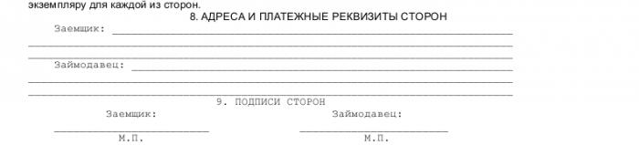 Образец договора процентного займа_002