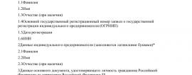 Образец заявления о прекращении деятельности ИП_001