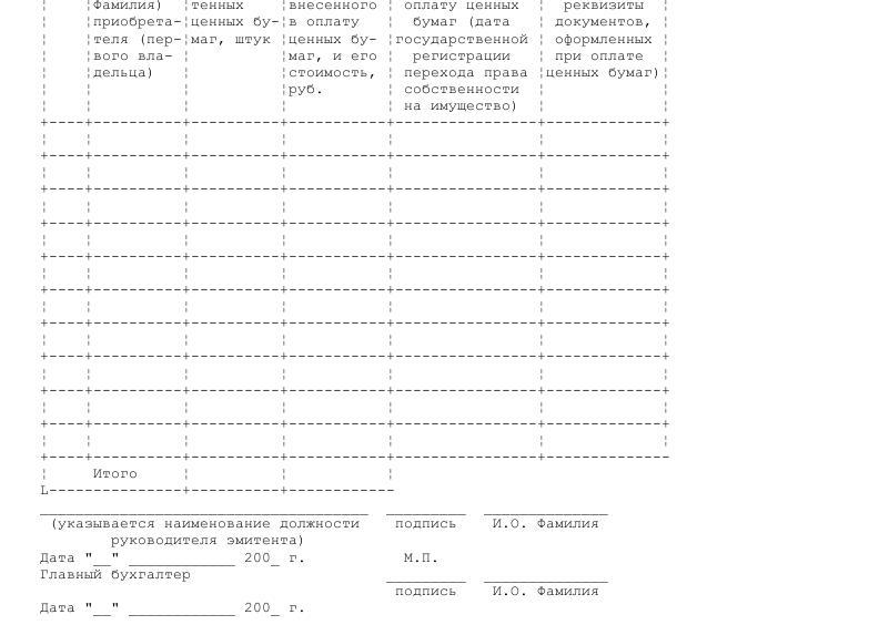 Образец справки об оплате ценных бумаг, размещенных путем подписки _002
