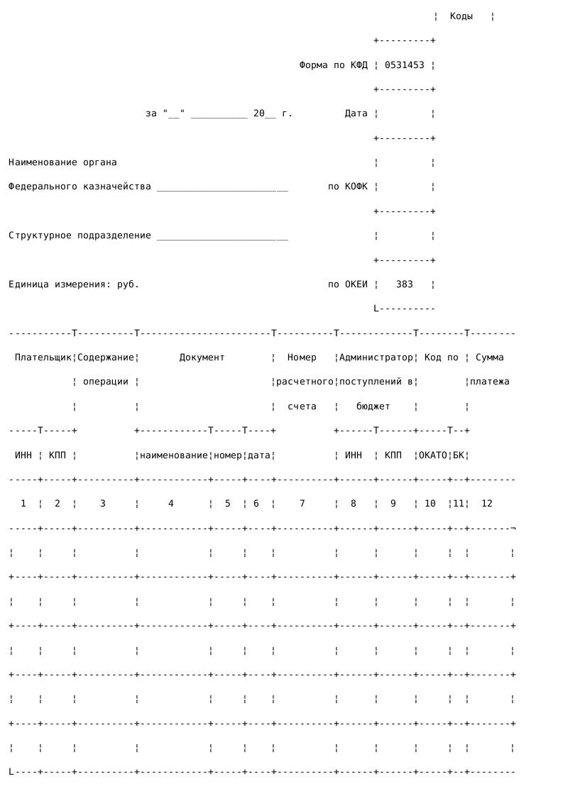 Образец справки органа Федерального казначейства_001
