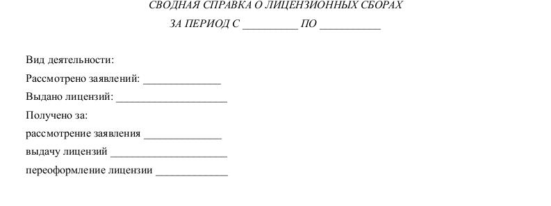 Образец справки о лицензионных сборах _002