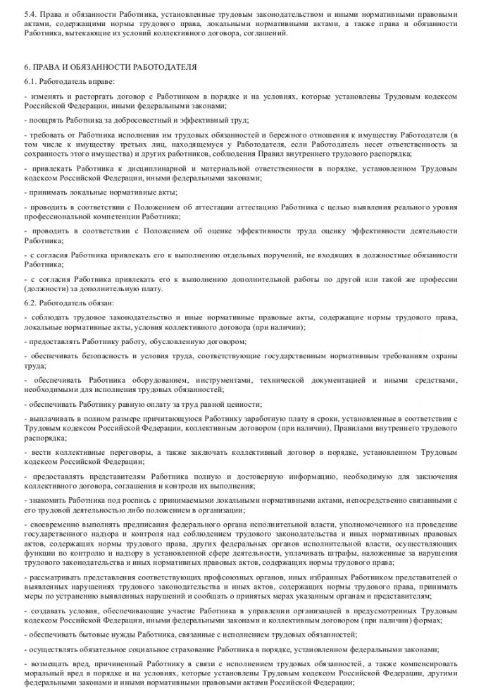 Образец трудового договора с аналитиком_004