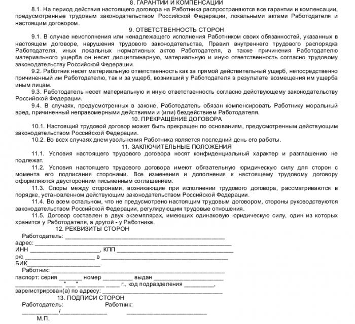 Образец трудового договора с аудитором_003