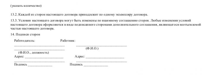 Образец трудового договора с инженером-программистом_005