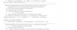 Образец трудового договора с кассиром_001