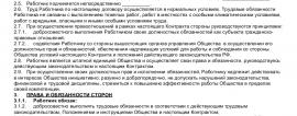 Образец трудового договора с мерчендайзером_001