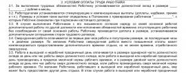 Образец трудового договора с начальником финансового отдела_001