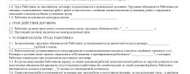 Образец трудового договора с оператором 1С_001