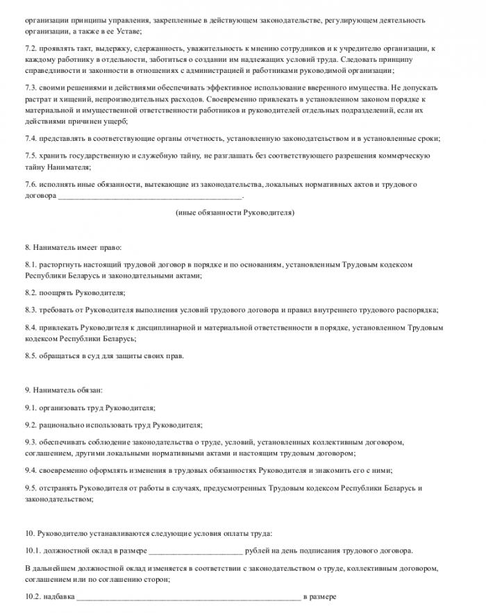 Образец трудового договора с руководителем проекта_002