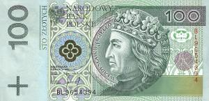 Польский злотый100а