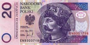 Польский злотый20а