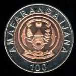 Руандийский франк 100р