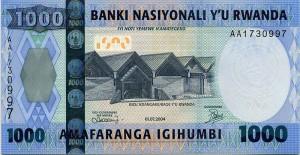 Руандийский франк 1000а
