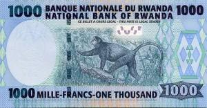 Руандийский франк 1000р
