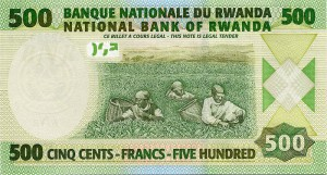 Руандийский франк 500р