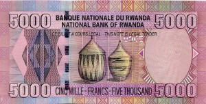Руандийский франк 5000р