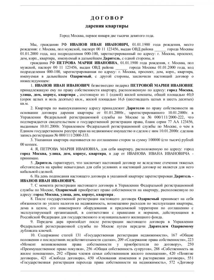 Форма Договора Подряда на Строительные Работы