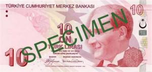 Турецкая лира10а