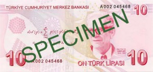 Турецкая лира10р
