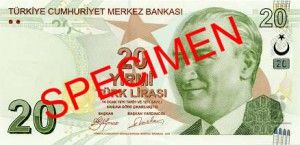 Турецкая лира20а
