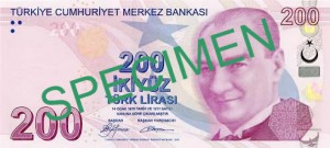 Турецкая лира200а