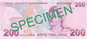 Турецкая лира200р
