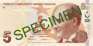 Турецкая лира5а