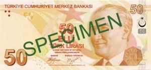 Турецкая лира50а