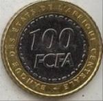 Франк КФА BCEAO 100а