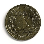 Французский тихоокеанский франк 100а