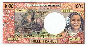 Французский тихоокеанский франк 1000р