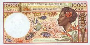 Французский тихоокеанский франк 10000а