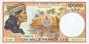 Французский тихоокеанский франк 10000р