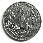 Французский тихоокеанский франк 50а